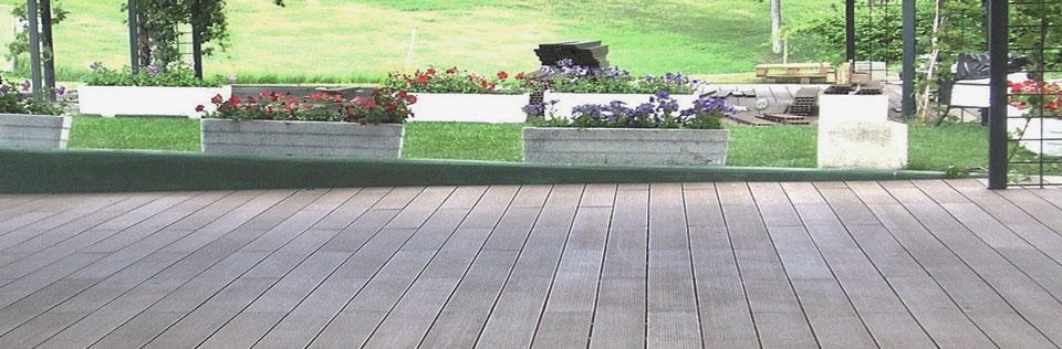 Madera composite ecol gica sin mantenimiento - Suelos de terrazas exteriores ...