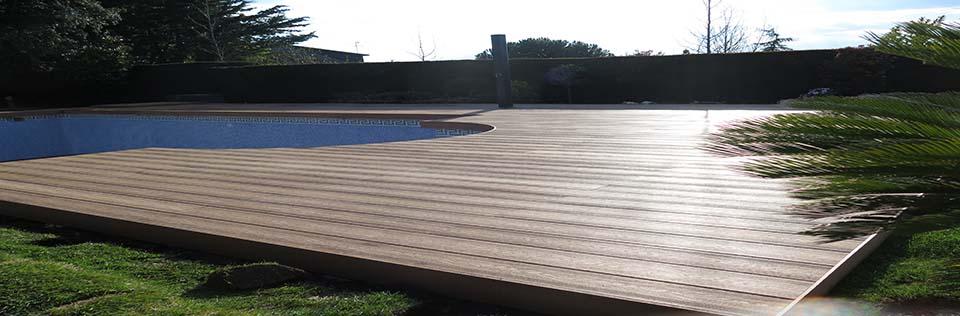 Limpieza de madera sintetica exterior